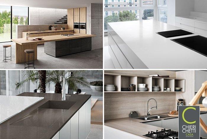 scegliere materiali per il top cucina