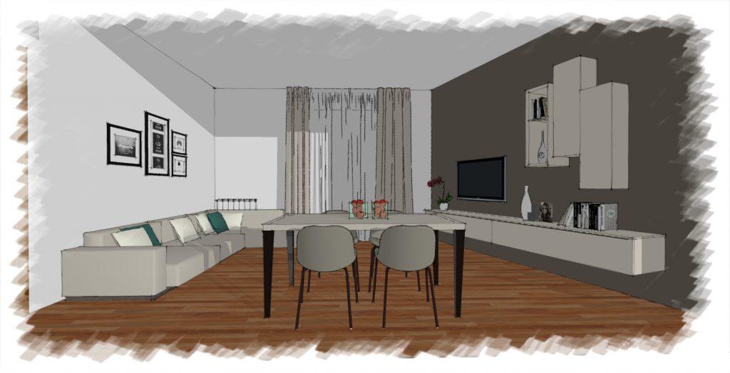 disegno soggiorno